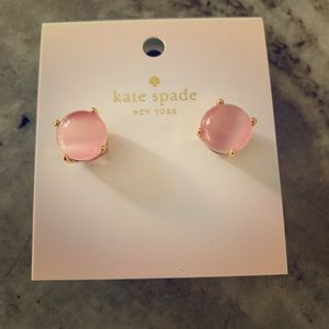 Kate Spade Pink and Gold Stud Earrings